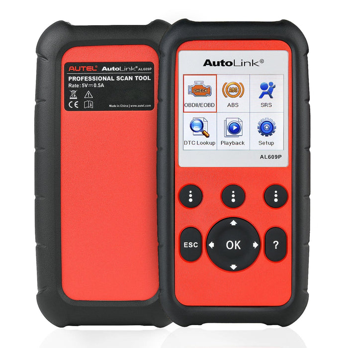 autel al609 face and back