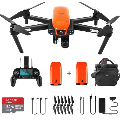 Autel Robotics EVO Drone Foldable 1080P 60FPS 4K Camera Drone Bundle Mini Quadcopter 2 Batteries
