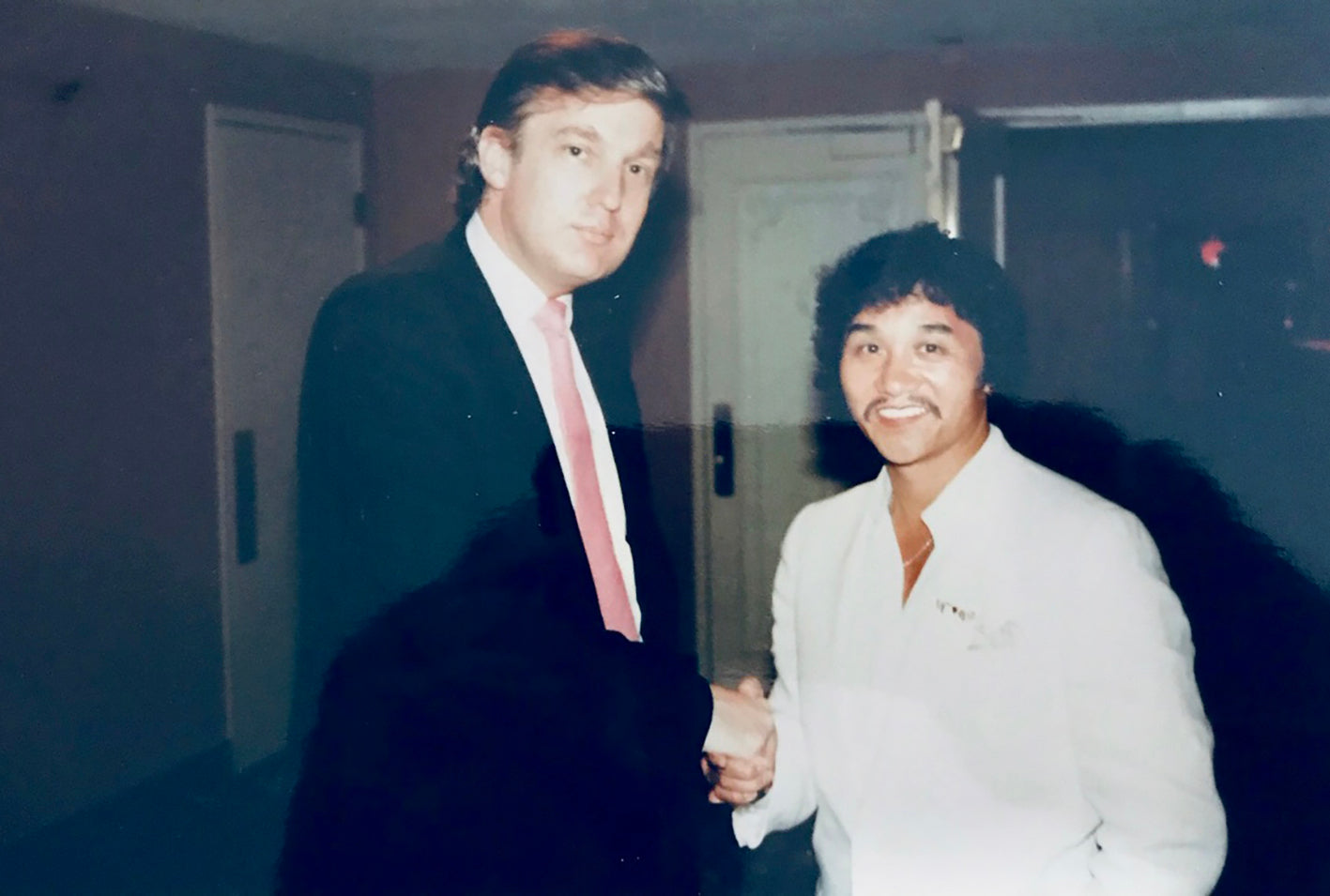 Rocky Aoki and Donald Trump