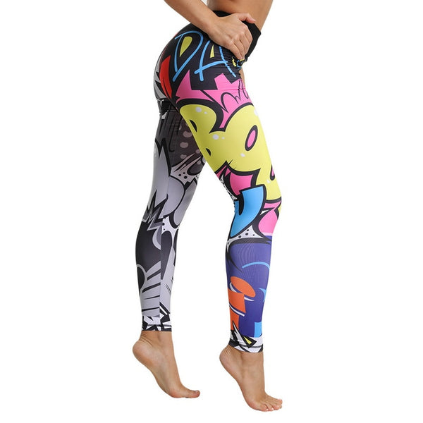 Legging Yoga <Br> Bande dessinée