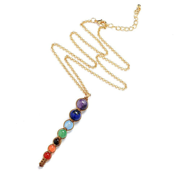 Collier Chakra <Br> Or et Pierres naturelles - chakras-yoga.com