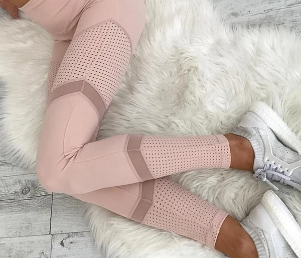 Legging Yoga <Br> Rose et Transparence