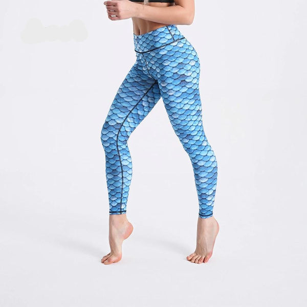 Legging Yoga <Br> Bleu