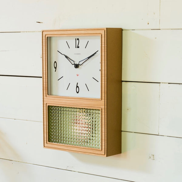 GLASS PENDULUM CLOCK