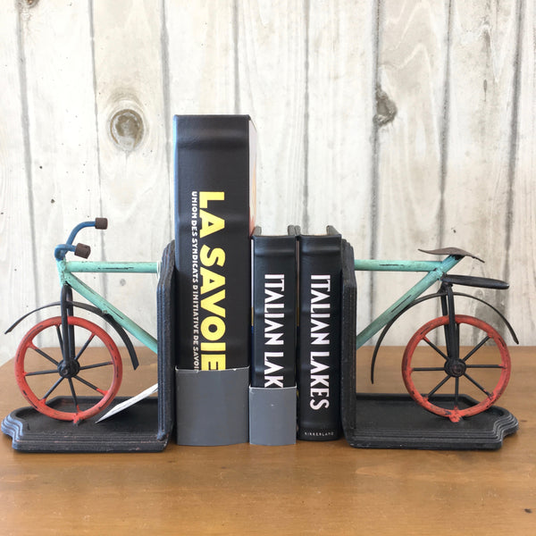 Metal Bicycle Bookends
