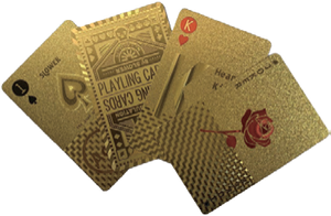 PLAYING CARDS  GOLD