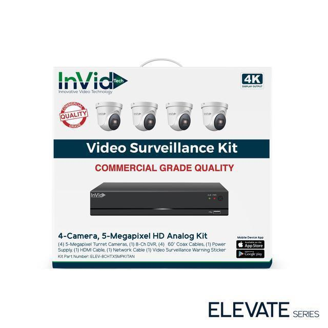 InVid 4 Camera 5 Megapixel HD Analog Kit