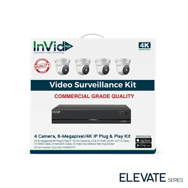 InVid 4 Camera 8 Megapixel/4K IP Plug & Play Kit