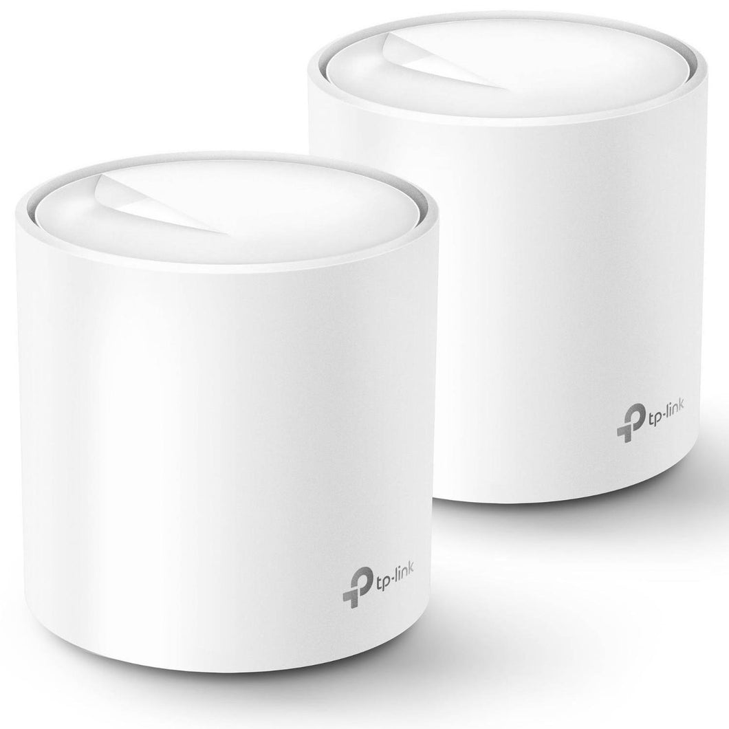 TP-Link Deco X60(2-pack) AX3000 Whole Home Mesh Wi-Fi 6 System