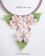 Cherry Blossom Necklace 3 blooms