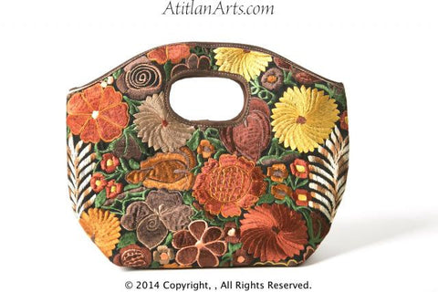 Handwoven Bag 09 with Silk Embroidered Flowers