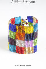 Flat Bracelet Multicolor Patchwork Brilliant