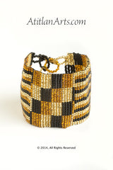 Flat Bracelet Gold, Canela & Black wide