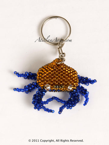 Crab small gold blue [Sea Life]