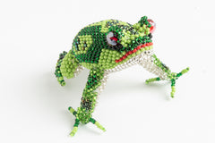 Frog; medium: yellow green; green, peacock green spots