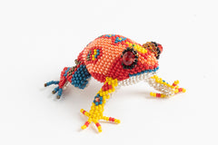Frog: medium; luster orange, red, blue, yellow