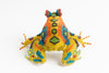 frog; medium; yellow, orange, multicolor spots