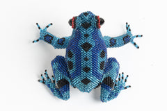 Frog; medium; blue, bright blue, black