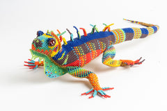 Lizard; extra large; luster rainbow colors