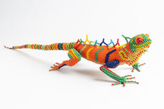 Lizard; large; luster orange with multicolor spots