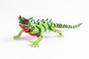 Lizard: medium; luster light green, green, silver, red