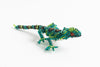 Lizard: small; emerald, green, bronze