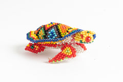 Sea Turtle; extra small; luster rainbow colors with yellow