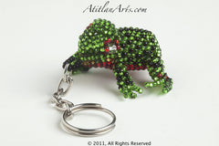 Garden Frog green with black spots red eye ring [Frogs]
