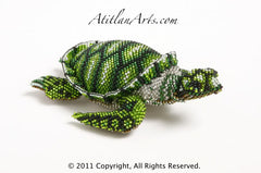 Sea Turtle: medium; green and black
