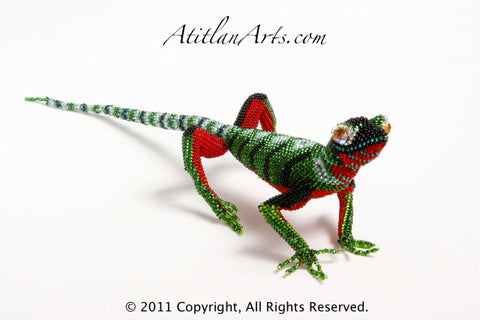 Green & Red Lizard 01 [Reptile]