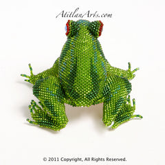 Green & Turquoise Frog Striped 07 [Frogs]