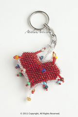 Heart red with silver beaded trim [Christmas, Holiday, Valentine]