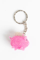 Fat Pig with Wings; hot pink, silver