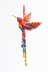 Hummingbird; extra large; rainbow colors; red head