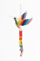 Hummingbird; extra-large; silver with rainbow wings