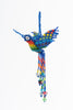 Hummingbird; extra-large; blue with rainbow colors