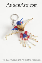Hummingbird, fringe-tail, large blue/red/silver/gold [Birds]