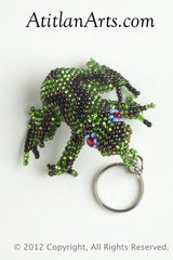 Garden Frog green aceite blue eye ring [Frogs]