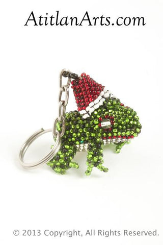 Christmas Frog green with red hat [Christmas, Holiday, Frogs]