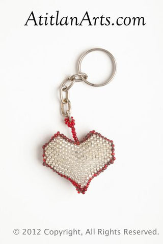 Heart silver with red trim [Valentine Holiday]