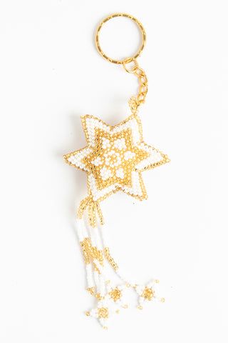 Star with Fringe: gold, white