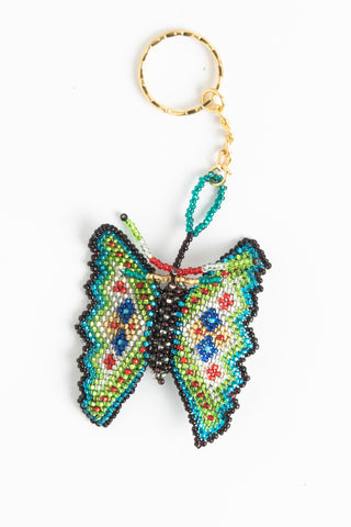 Butterfly; regular; multicolored with blue, red, green