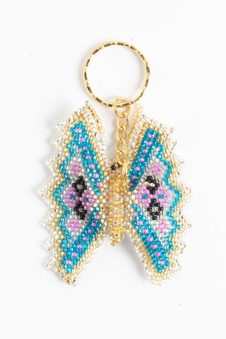 Butterfly: regular; silver, bright blue, gold, lavender