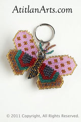 Butterfly, rounded wing pink/pewter [Insects]