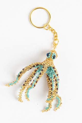 Octopus; gold, turquoise