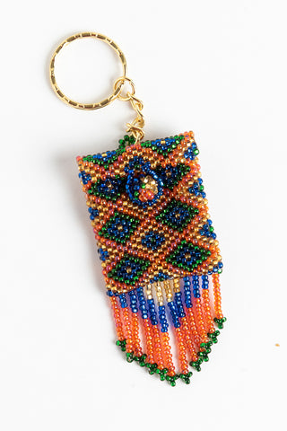Amulet bag; rose,blue,gold