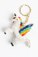 Unicorn with wings; white with rainbow mane, wings