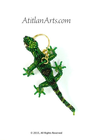 Beaded Lizard Keychain with legs green smaller [Reptile]