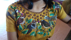 Gringa Guipil (Huipil)~ Gold Birds of Santiago