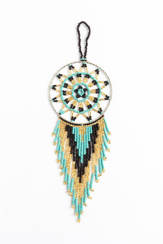 Dreamcatcher: small; turquoise, purple, gold